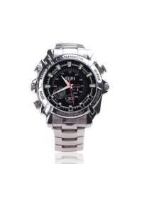 IR Night Vision HD SPY Waterproof Steel Watch 4GB Camcorder 1080P