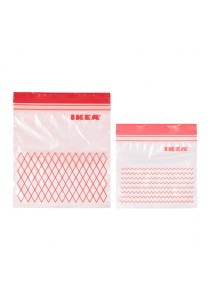 Re-usable Double Sealed Red Plastic Bag - 60pcs