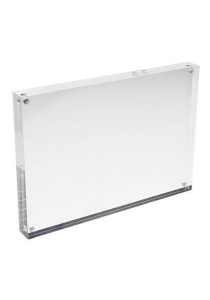 Clear Acrylic Sign Holder with Magnet Enclosure (13cm x 9cm)