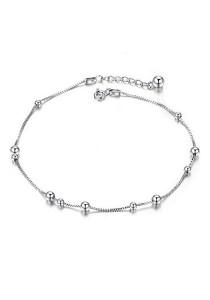 Vivere Rosse Charms 925 Sterling Silver Anklet JA0006