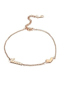 Vivere Rosse Love You Anklet Bracelet (Rose Gold) JA0007