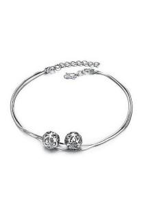 Vivere Rosse Lovely Balls Anklet (Silver) JA0011