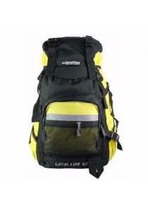 Local Lion Steel Support Water Resistant Hiking Backpack Steel 45L