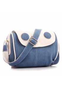Korean Fashion Eye Design Jeans Canvas Messenger Bag Sling Bag 331