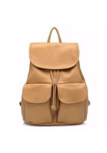 Korean Fashion Casual Leather Ipad Backpack 513