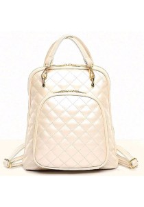 Korean Fashion PU Leather Princess Quilted Sling Bag Backpack 517