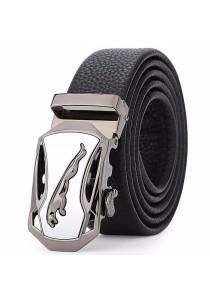 Dante Premium Soft Leather Jaguar Automatic Buckle Men's Belt 808
