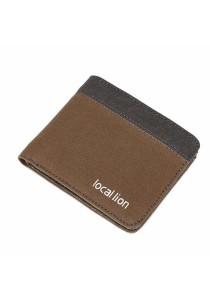 Local Lion Canvas Two Tones Colour Men's Wallet 854 (Brown)