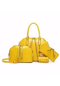 Loveena Set of 4 Artificial Leather Purse Sling Bag Handbag Tote Bag 904