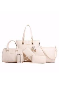 Set of 6 Elegant Leather Purse Sling Bag Handbag Tote Bag 906