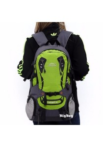 Local Lion Water Resistant Hiking Backpack Bag 28L Green