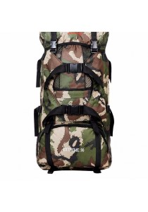 90L Soldier Camo Outdoor Camping Hiking Water Resistent Backpack Bag