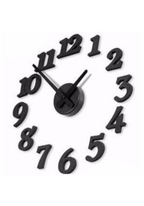 Creative Interior Decoration DIY Numbers Wall Clock (Black)