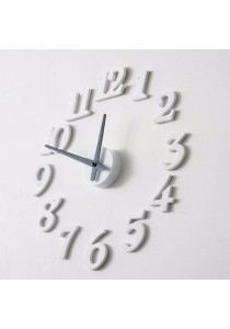 Creative Interior Decoration DIY Numbers Wall Clock (White)