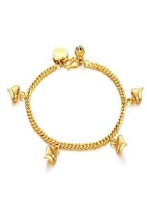 Vivere Rosse Heart Charms Bracelet (Gold) JB00021