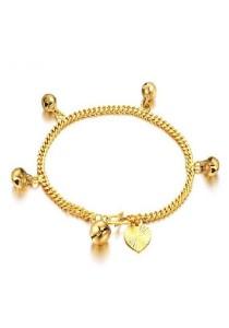 Vivere Rosse Bell Charms Bracelet (Gold) JB00023