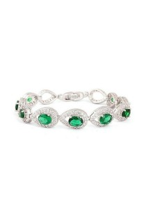 Vivere Rosse Royal Luxury Bracelet with Emerald Gemstones JB0005