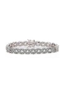 Vivere Rosse Flower Blossom Diamond Simulant Bracelet JB0012