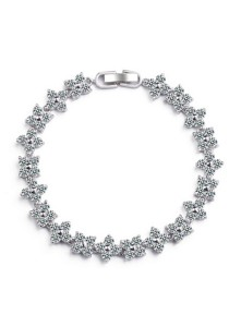 Vivere Rosse Snowflakes Diamond Simulants Cubic Zirconia Bracelet JB0013