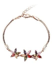Vivere Rosse Summer Flowers Cubic Zirconia Bracelet JB0015