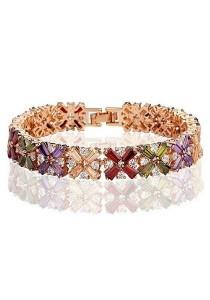 Vivere Rosse Rainbow of Love Diamond Simulant Bracelet (Colorful) JB0019