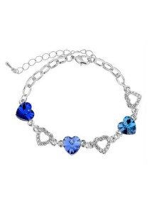 Vivere Rosse Lovely Hearts Swarovski Elements Bracelet (Blue) JB0025-B