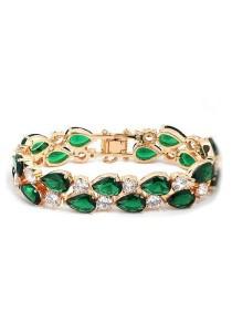 Vivere Rosse Monalisa Cubic Zirconia Bracelet (Green) JB0028-E