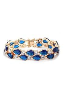 Vivere Rosse Monalisa Cubic Zirconia Bracelet (Blue) JB0028-S