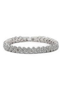 Vivere Rosse Romantic Diamond Simulant Bracelet (Silver) JB0030-1