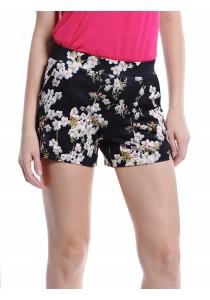Floral Printed Shorts (Black)