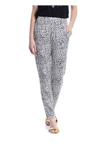 Harem Pants With Side Pockets (White)