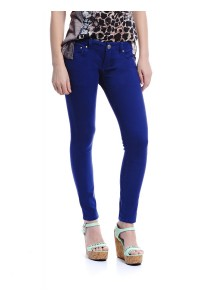 Mid Rise Skinny Jeans (Blue)