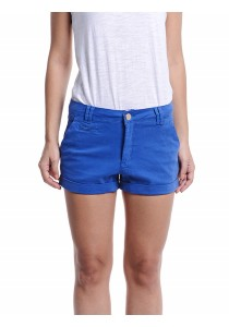 Shorts With Roll-Up Hem (Blue)