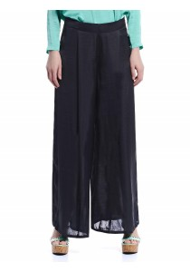 Flowing Palazzo Pants (Black)