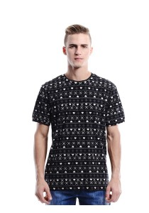 Geometric Inspired Print Tee (Black)