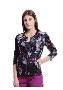 Floral Print Jacket (Black)