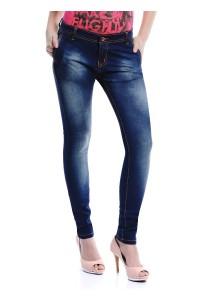 Mid Rise Skinny Jeans (Indigo)