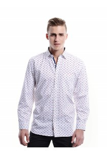 Geometric Printed Shirt (White)