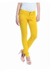 Mid Rise Skinny Jeans (Yellow)