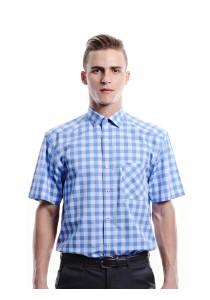 Blue Gingham Shirt (Blue)