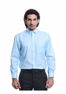 Regular Fit Long Sleeve Shirt (Light Blue)