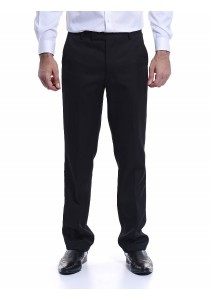 Flat Front Trousers (Black)