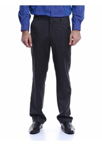 Flat Front Trousers (Charcoal)