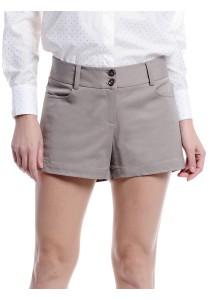 Basic Cotton Shorts (Dark Khaki)