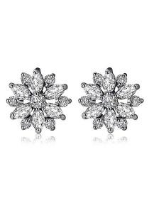 Vivere Rosse Daisy Dream Cubic Zirconia Stud Earrings JE0009