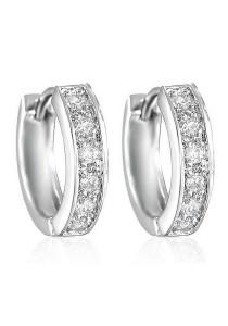 Vivere Rosse Classic Crystal Huggies Earrings JE0019