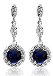 Vivere Rosse Monroe Link Earrings (Sapphire) JE0022