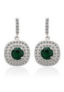 Vivere Rosse Autumn Breeze Micropave Earrings (Green) JE0046-E
