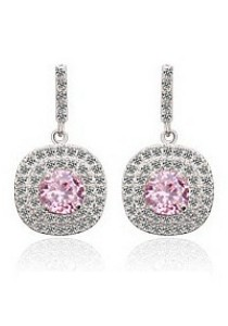 Vivere Rosse Autumn Breeze Micropave Earrings (Pink) JE0046-P