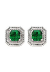 Vivere Rosse Allure Stud Earrings (Green) JE0052-E
